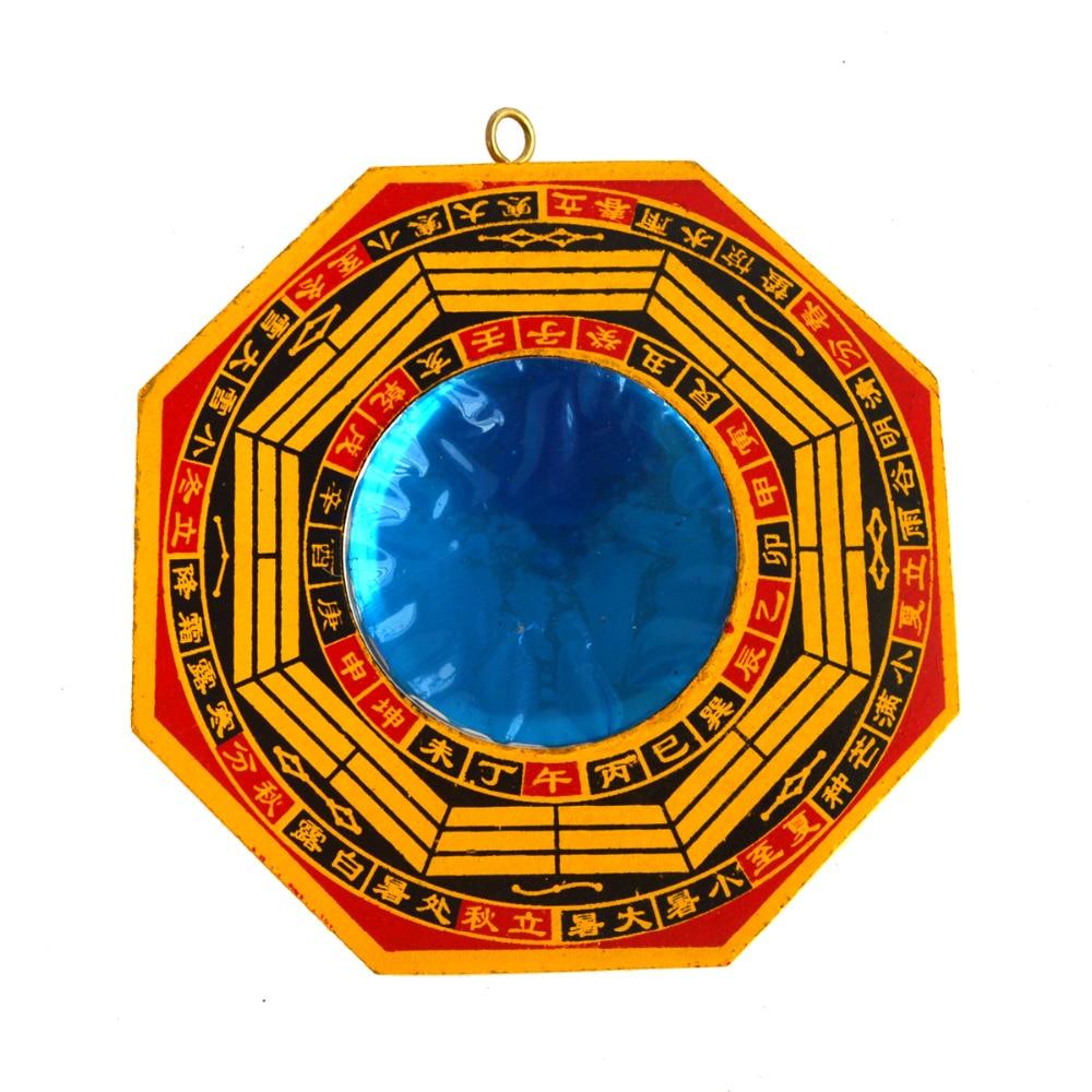 Feng Shui madera de Durazno Bagua cóncavo espejos pakua SKU S1008-1A
