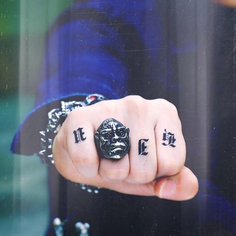 ¡Nueva tienda! Anillo de acero inoxidable 316L de Beier, subida del planeta de los simios, anillo de motorista Punk, joyería de moda de WR8-427