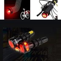 Q-LITE Mountain Bike Bar End Light Road Bike Bar End Light Super Turn Signal Rear Light Bicycle Handlebar End Light