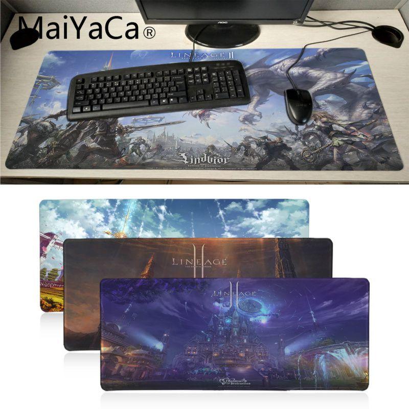 MaiYaCa de piel lineage2 ratones Gaming para portátil Mousepad único escritorio Pad de gran tamaño alfombrilla para el ratón para juegos de teclado Mat alfombrilla de ratón para gamers