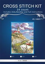 Piękny liczony zestaw do haftu cliffside beacon lighthouse pharos cliff side seaside dim 6502