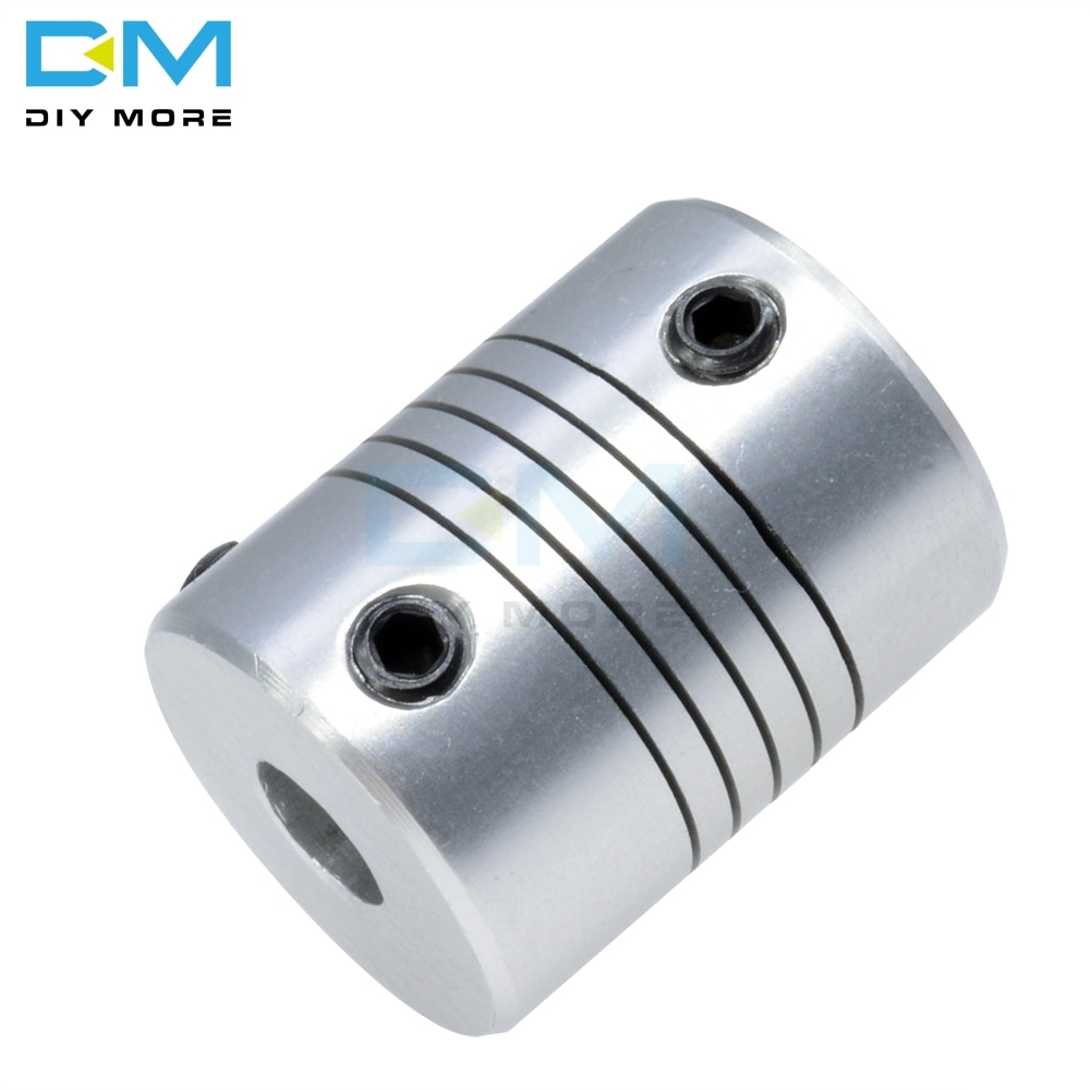 D19L25 Flexible Motor Shaft Coupling CNC Stepper Motor Coupler Connector 6.35X8MM 5X8MM 5X10MM 8X8MM 8x10mm  Aluminum Alloy