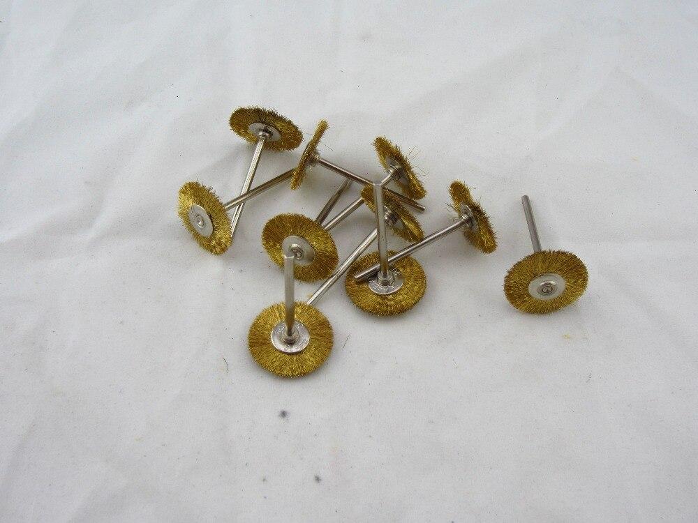 Envío Gratis 50 unids/lote, cepillo de alambre de latón gh103, rueda de pulido de grabado de limpieza de joyas, accesorios dremel para herramientas rotativas