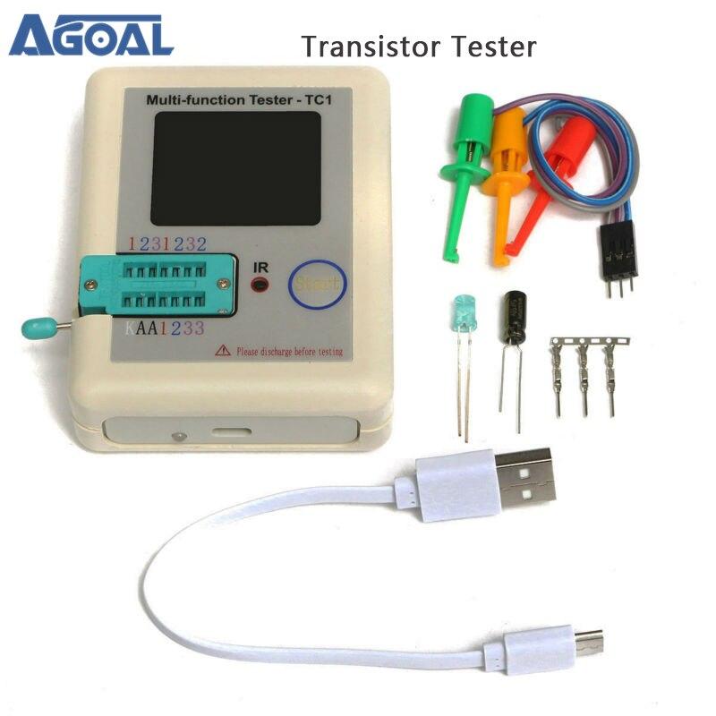 Тестер транзисторов TFT, диодный триодный измеритель емкости LCR ESR NPN PNP MOSFET LCR-TC1, 3,5-дюймовый TFT, 2019