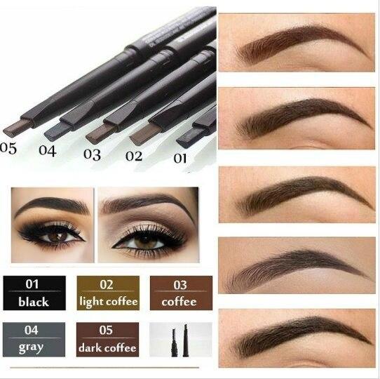 Автоматический Профессиональный Водостойкий карандаш для макияжа бровей, 5 стилей краски, карандаш для бровей, инструменты для подводки глаз
