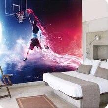 Wellyu-papier peint 3D personnalisé   Papier peint vitesse et Passion Dunk basket-ball, galerie dart mur salon chambre à coucher