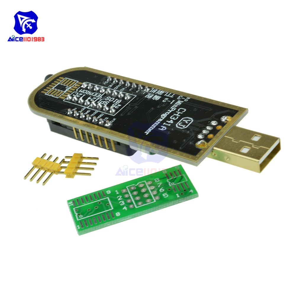 Diymore Usb Programmer Wch341a Series 24 Eeprom Writer 25 Spi Flash Bios Board Module Usb To Ttl 5v 3 3v Software Driver Drive Usb To Ttl Usb Tospi Flash Aliexpress