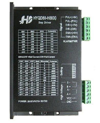 Controlador de motor paso a paso H8600 7A 24 V-70 V DC Microstep 256 para NEMA23 NEMA34 controlador de motor paso a paso