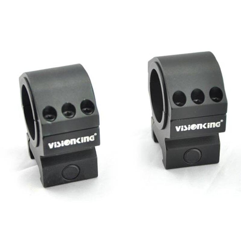 Anillo de montaje de visión para RifleScope 25,4mm 30mm soportes de tubo para. 223. 308. 50 Cal anillo de montaje de aluminio a prueba de golpes