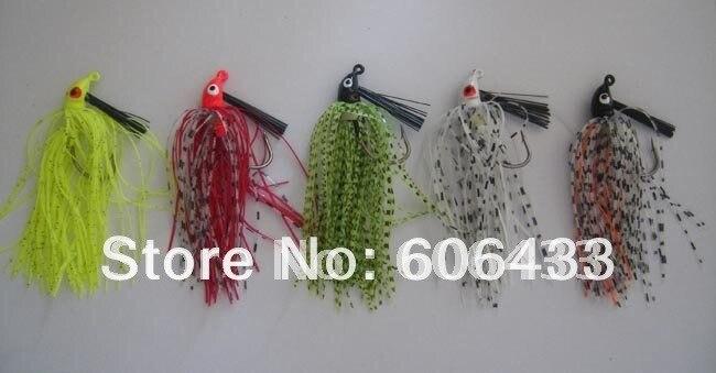 5PCS Fishing Lure Rocketb Barbed Wire Jig Hook Bass Baits 9g, 8.5cm
