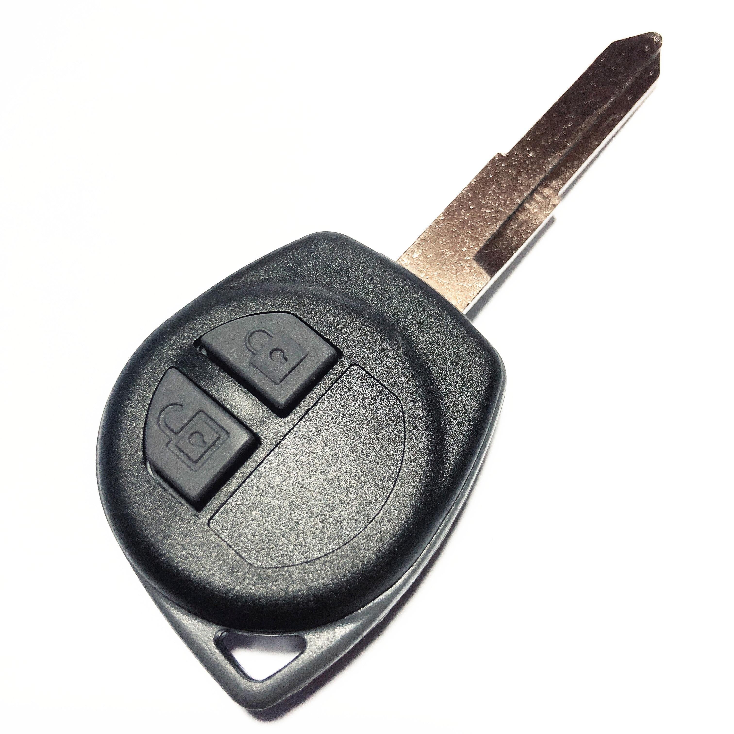 Com o Botão de Borracha Pad Substituição Caso Remoto para SUZUKI Vitara Swift Ignis SX4 Liana Grand Vitara Alto 2 Chave Botão shell