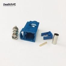 Connecteur de prise femelle SMB 1 pièce   RF Fakra C 5005 bleu, sertissage, câble RG316 RG174 LMR100 pour GPS, Navi nouveau gros