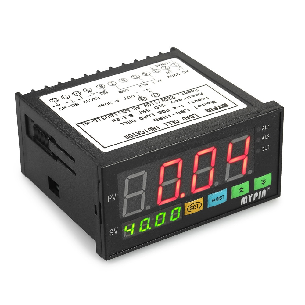 LED Display Digital Medidor de Carga-células de Pesagem Indicador 1-4 Células de Carga de Entrada de Sinais de Saída do Alarme do Relé 2
