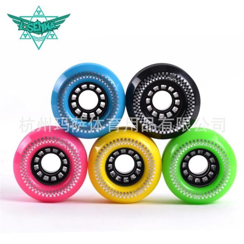 4 pcs/lot 78A High Performance Street Brushing Skate Board Wheel 75mm*44mm Skateboard Rodas for Flat Single Double Long Road