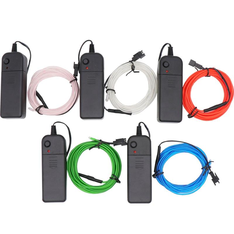3M 9.9FT неоновый свет для танцевальной вечеринки декор свет неоновая светодиодная лампа Гибкая EL провод веревка трубка Водонепроницаемая светодиодная лента с контроллером