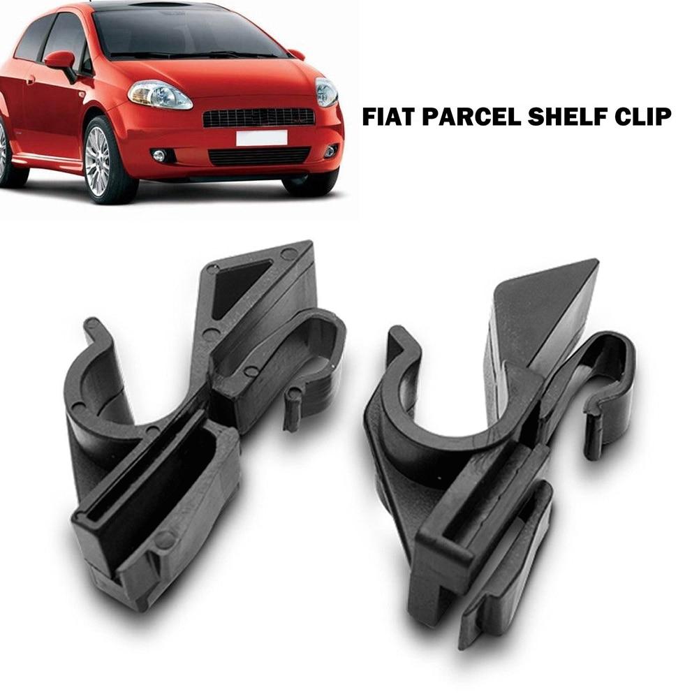 Accesorios para automóviles, práctico trasero, fácil de instalar, duradero, par de plástico, Clip para estante de paquete, recambio de cierre para Fiat Grande Punto