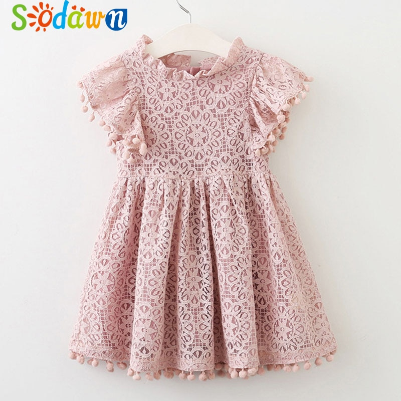 Sodawn/Новинка 2020 года; Летняя одежда для детей; Одежда для девочек; Милое платье принцессы в полоску с длинными рукавами; Одежда для детей