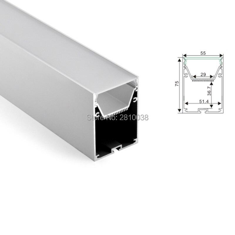 30 X 2M Sets/Lot U shape led strip light aluminum profile 55 mm wide Square type aluminium led extrusion for hanging lamp