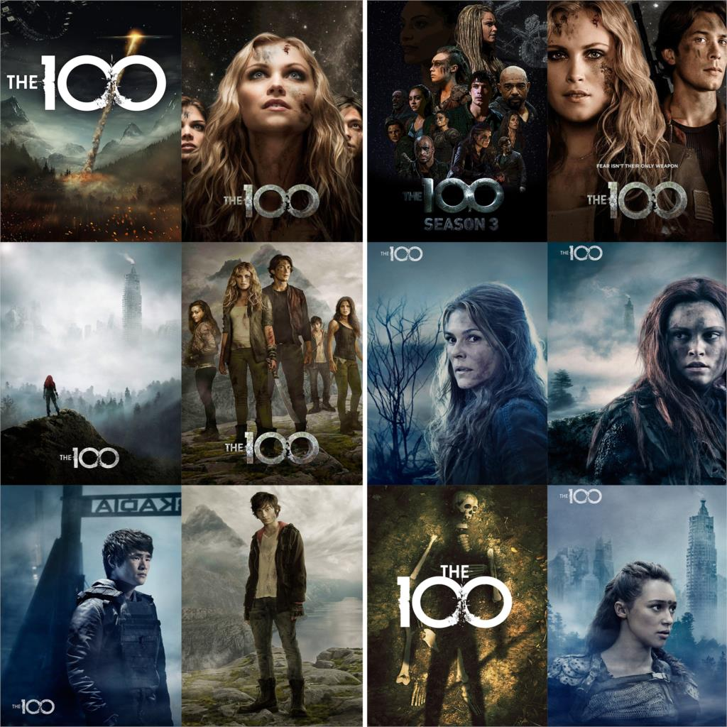 The 100 Posters Movie Wall Stickers Glossy Paper Prints Vivid Color Home Decoration Livingroom Bedroom Bar Wholesale