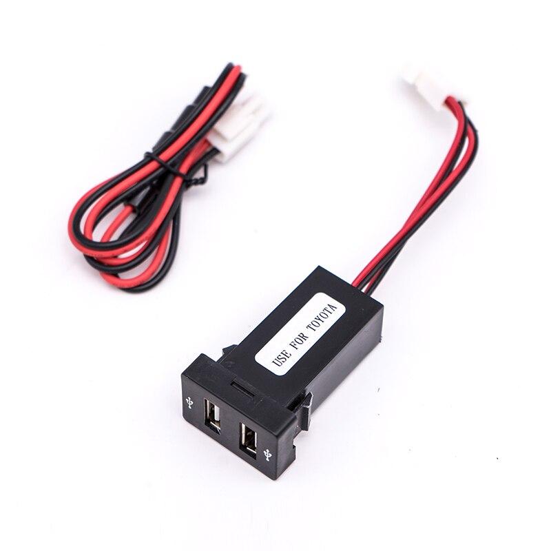 Для Toyota Corolla Оригинальное отверстие модифицированное автомобильное usb-устройство для зарядки телефона двойной 2.1A двойное автомобильное зарядное устройство установка запасное отверстие