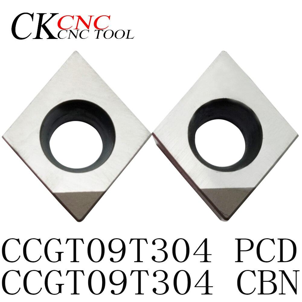 2 pces ccgt09t304 pcd ccgt09t304 cbn torno ferramenta de corte carboneto lâmina torneamento inserções inserções de diamante carboneto de moagem inserções