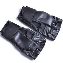 2017 gants de boxe karaté allongé demi-doigt manchette en cuir MMA bandage muay thai jumeaux gants pour hommes et femmes boxeo