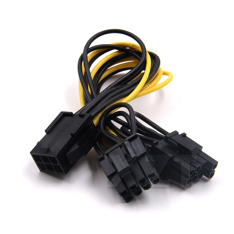 10 teile/los 6 pin PCI Express zu 2 x PCIe 8 (6 + 2) pin Motherboard Graphics Grafikkarte PCI-e VGA Splitter Hub Power Kabel