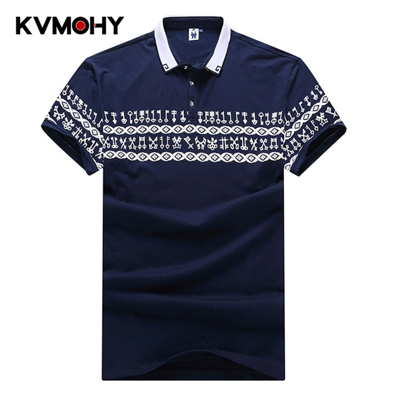 Мужская рубашка-поло, с коротким рукавом, 6XL 7XL