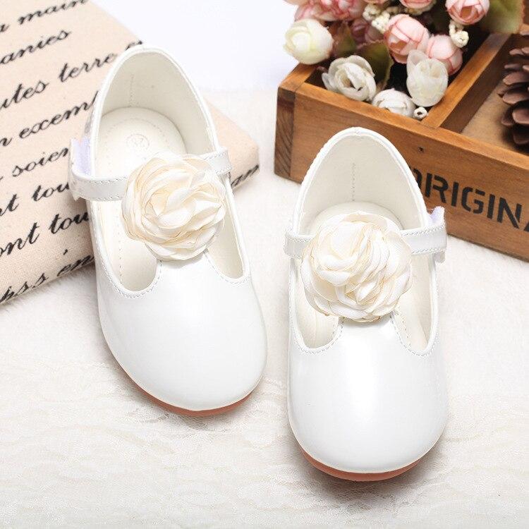حذاء برنسيس جلد للبنات ، حذاء كاجوال زهري كبير للبنات ، 3 ألوان ، جديد ، 2017