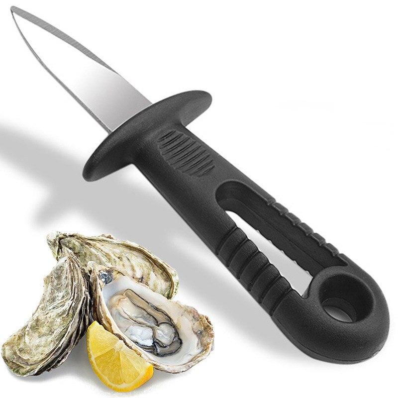 Yiwumart cuchillo de ostra con mango de acero inoxidable afilada, herramienta de abridor de mariscos con cáscara afilada, herramientas de cocina multifuncionales de utilidad