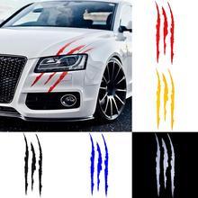 Auto Car Sticker Reflective Monster Claw Scratch Stripe Marks Headlight Decal car sticker High Strength Sticker