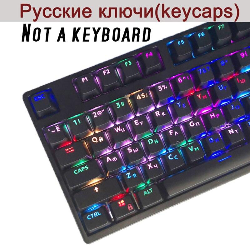 108 Keyscaps ABS/Russo Languag Inglês Keycaps PBT Variedade Para Cherry MX Teclado Mecânico Chave Cap Switches