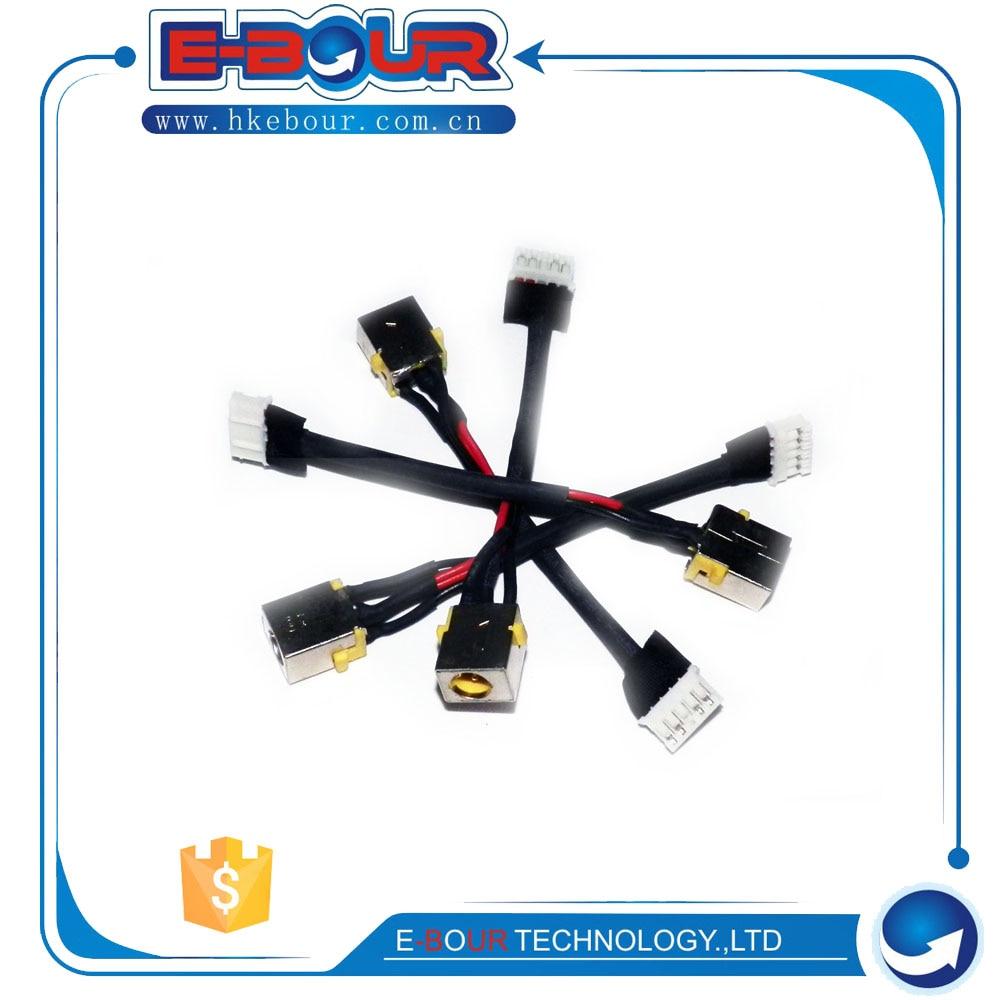 10 unids/lote conector DC portátil con Cable para puerta de enlace NV73A MS2291 toma de corriente continua
