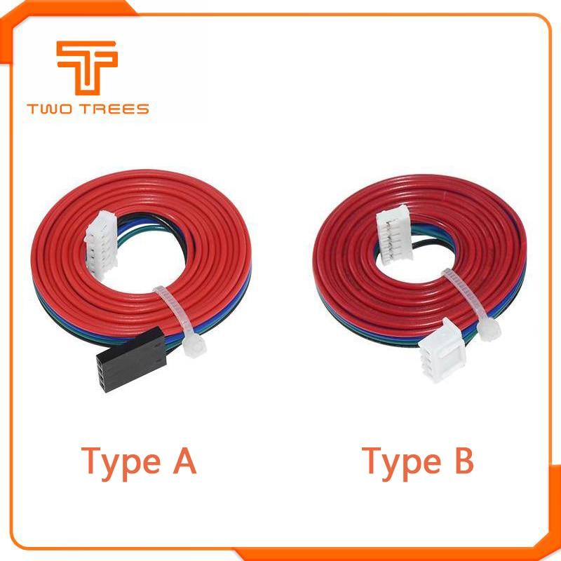 1 м двухфазный кабель DuPont XH2.54 4-контактный до 6-контактный соединительный кабель двигателя для шагового двигателя Nema 42