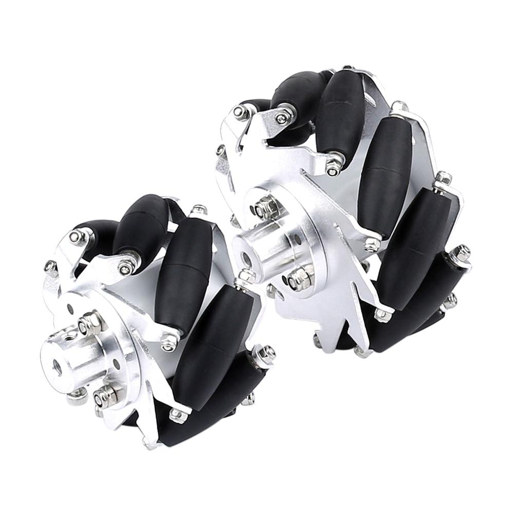 4pcs Left + Right 60mm Aluminium Mecanum Wheel Set with 4/5/6mm Motor Shaft Coupling for Robot Car Universal Wheels Accessories