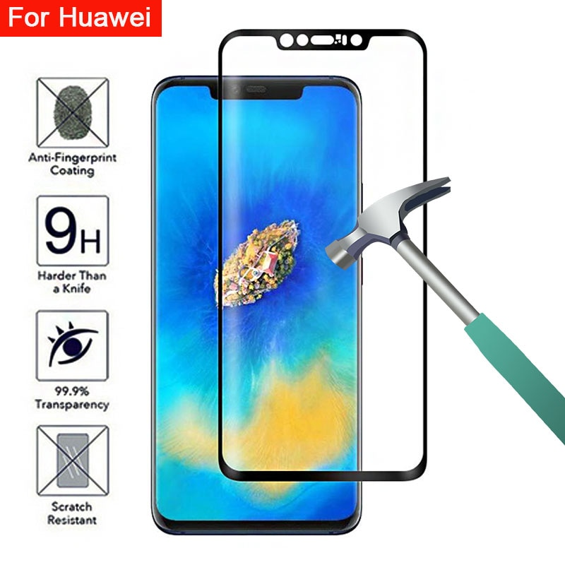 Vidrio protector para huawei mate 20 pro protector de pantalla de vidrio templado tremp teléfono en huavei 20pro película de seguridad mate cubierta completa