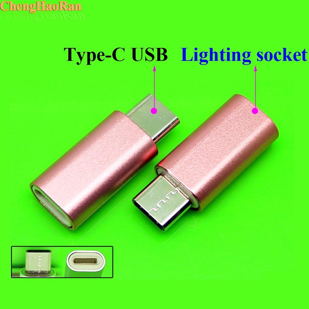 100 Uds adaptador USB tipo C para iPhone Cable tipo C Adaptador convertidor para Samsung S8 LG G5 G6 V20 Oneplus 2 3 P9 P10 Android