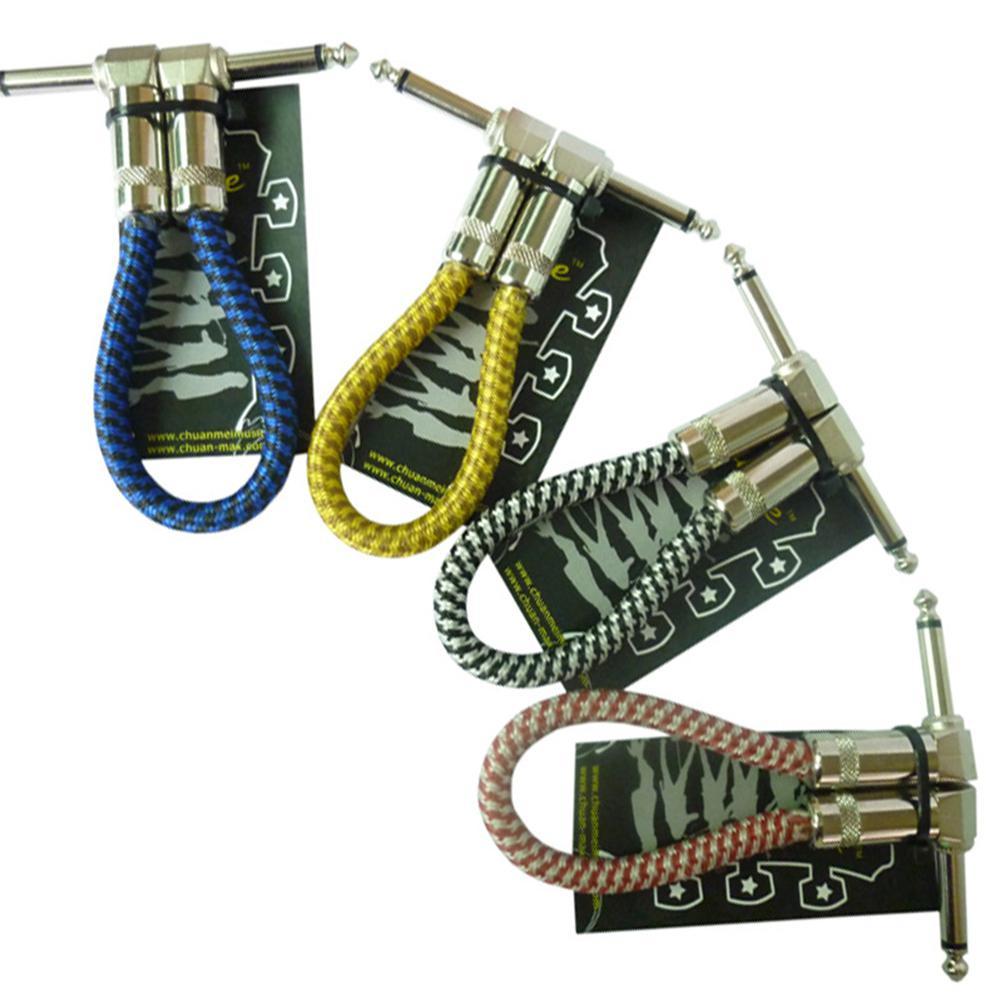 Dragonpad 25 см гитарный педаль патч-кабель 1/4 ''подключение низкий уровень шума 6,35 кабель провод шнур для электрической гитары педаль эффектов