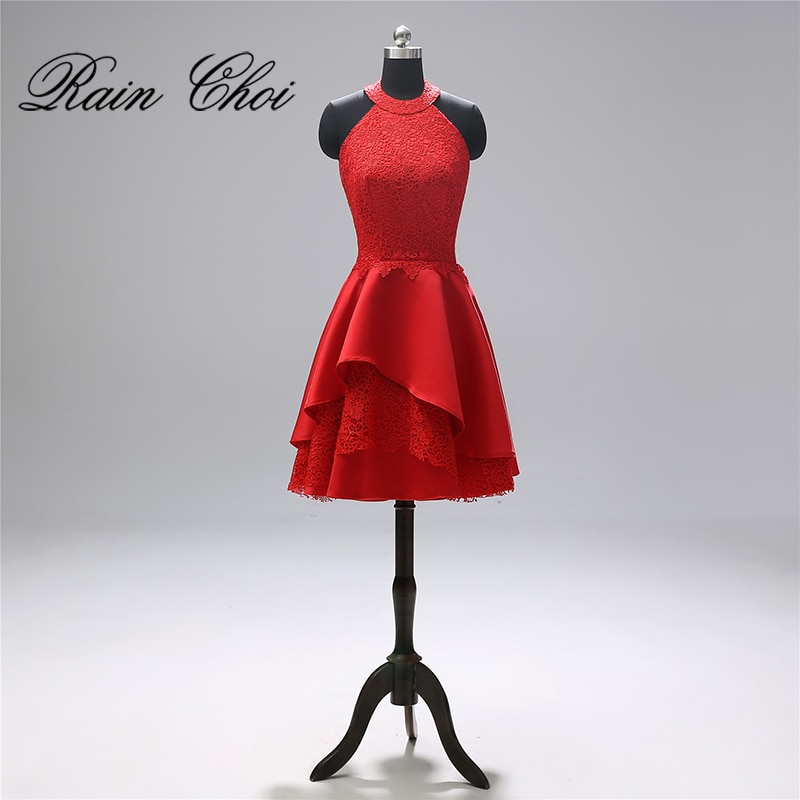 فستان كوكتيل قصير A-Line للنساء ، فستان سهرة رسمي ، فستان كوكتيل قصير