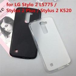 Original tpu caso do telefone capas para lg stylo 2 ls775/stylus 2 plus/stylus 2 k520 fosco macio silicone capa casos