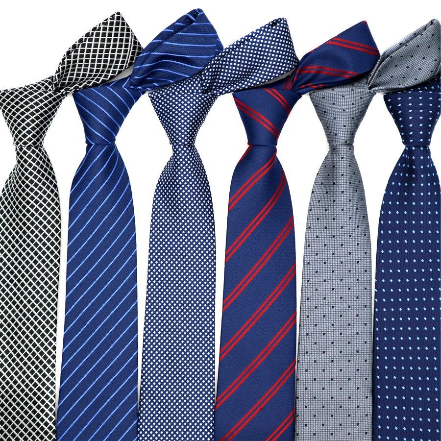 46 colores en oferta, corbatas de 7CM para hombre, rayas teñidas de poliéster, lunares, corbata a la moda, accesorios para hombre, corbata, graduación, fiesta de boda, fábrica
