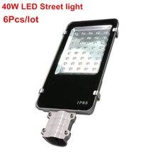 6 stks/partij, DHL Gratis verzending, 40 W Led-straatverlichting DC12V DC24V AC85-265V Aluminium LED Road Lamp Ultra heldere Outdoor Straat licht
