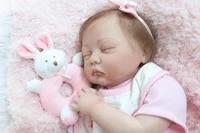 npk high end 22inch silicone reborn baby dolls rooted eyelash micro mohair best children gift sleeping dolls bebe bonecas reborn
