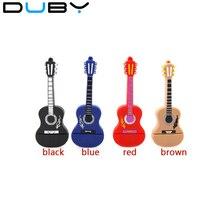 DUBY Silicone Fun guitare USB 2.0 4 GB 8 GB 16 GB USB Flash mémoire pouces clé USB créative mémoire Stick 32 GB 64 GB livraison gratuite