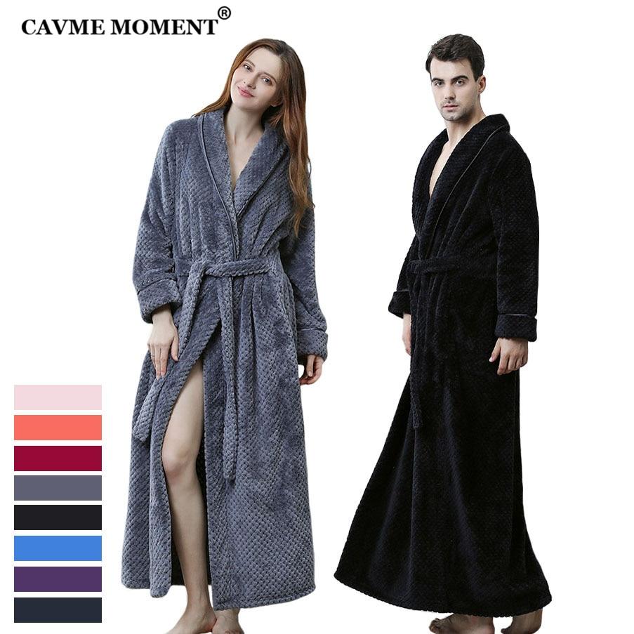 CAVME Bride LOGO CUSTOM Wedding Flannel Robes Bridesmaid Plus Size Long Kimono Winter Women Bathrobe Sleepwear