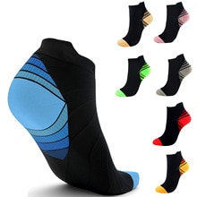 HUAYASX Compression Short Socken Frauen Männer Strümpfe Krampfadern Fuß Socken Kompresse Laufende Druck Mmhg Sport Nylon Knöchel Sommer