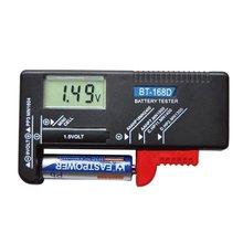 BT-168D Portable LED testeur de batterie numérique volts vérificateur pour pile bouton 9 V 1.5 V Rechargeable AAA AA batterie universelle Teste