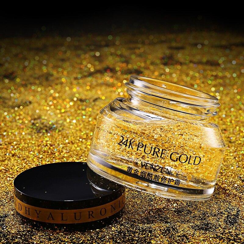 24K Gold Face Repair Serum Moisturizer Essence Cream Anti Aging Anti Wrinkle Whitening Repair Cream Skin Care