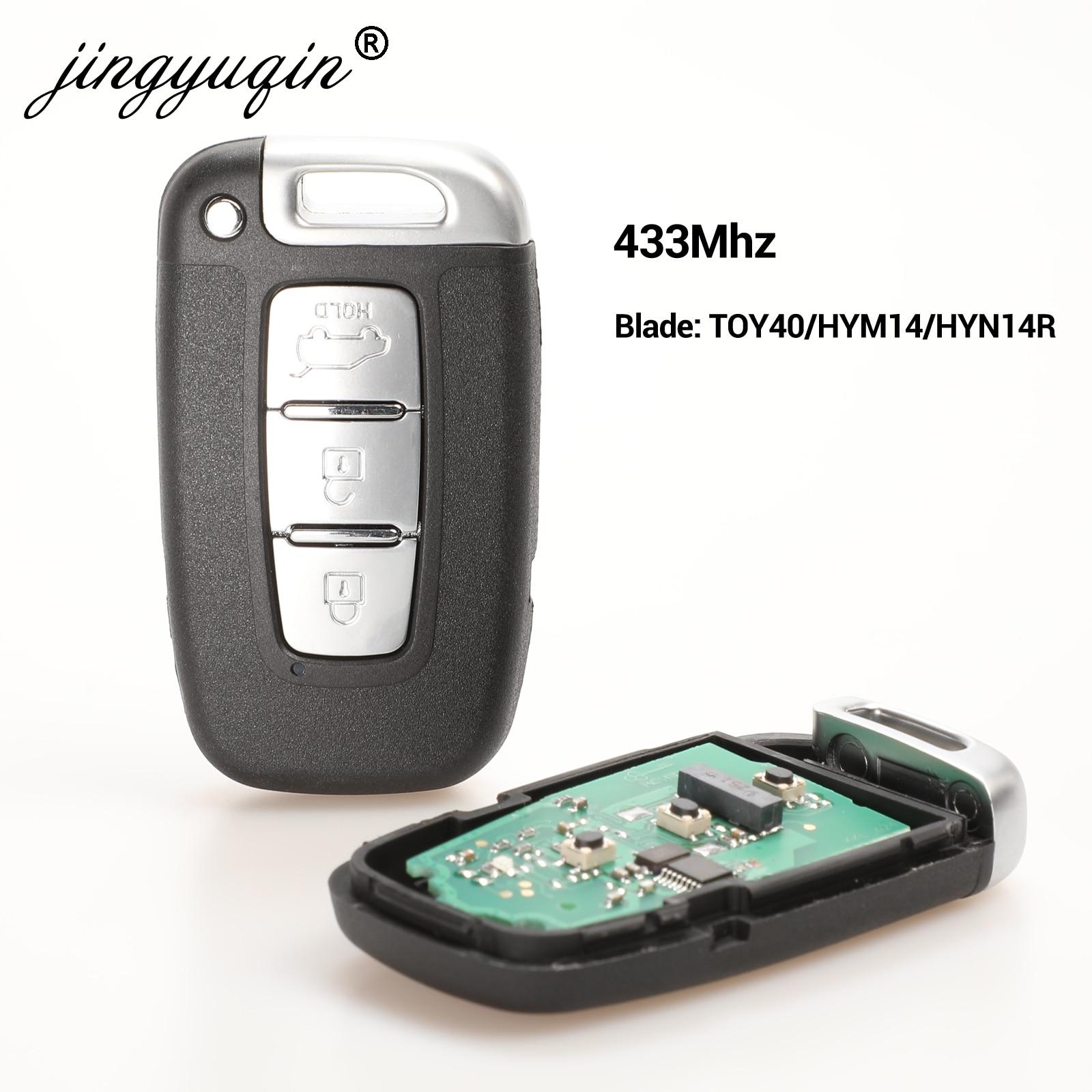 jingyuqin 433Mhz Car Remote Smart Key for HYUNDAI I30 I45 Ix35 Genesis Equus Veloster Tucson Sonata Elantra SY5HMFNA04 For Kia