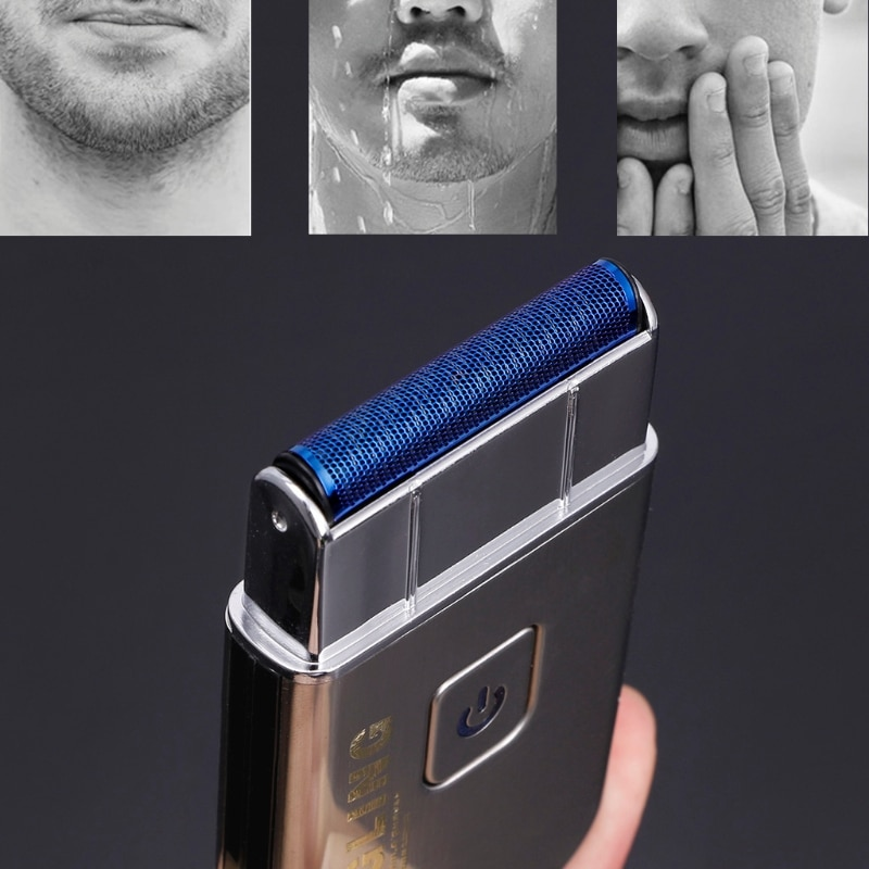 Mini USB Rechargeable Reciprocating Blade Electric Razor Shaver KM-5088 for Men enlarge
